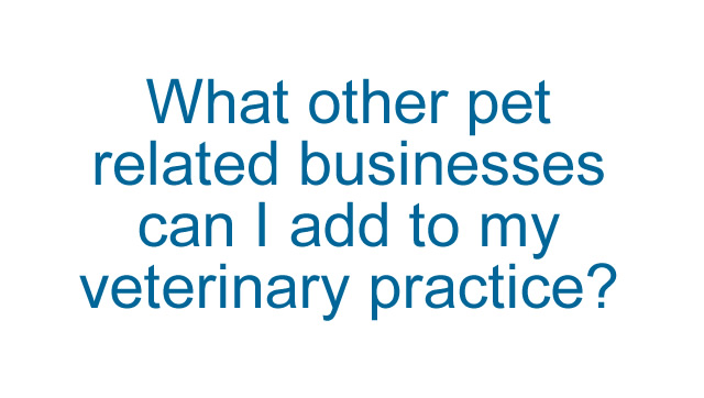 What other pet related businesses can I add to my veterinary practice?
