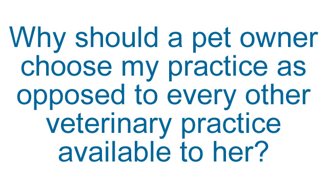 Why should a pet owner choose my practice?